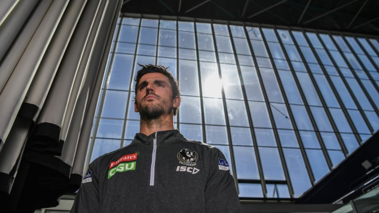 Scott Pendlebury this week. The Magpie skipper had a big impact this year in different ways.
