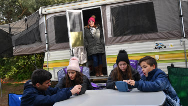 Who goes camping in the winter school holidays? You'd be