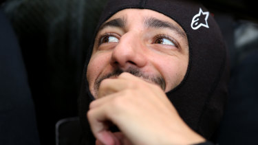 Setback: Daniel Ricciardo originally qualified in eighth place in Singapore.