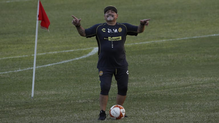 More from Maradona in Mexico.