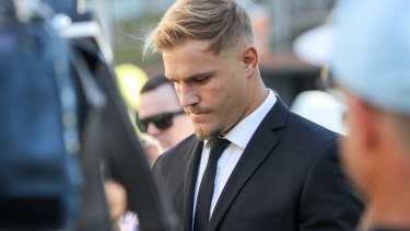 Charges: Jack de Belin appeared in court this week following an alleged sexual assault in Wollongong.