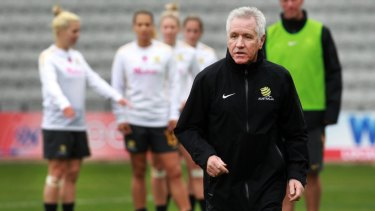 Old favourite: Football Ferns coach Tom Sermanni pictured during his last stint with the Matildas.