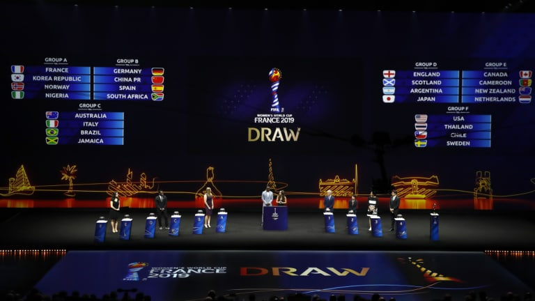 The Matildas were drawn against Brazil, Jamaica and Italy.