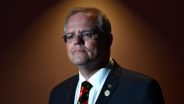 Australia's Prime Minister Scott Morrison at an APEC press conference on Sunday.