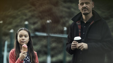 A hitman and his daughter ... Scott Ryan with Chika Yasumura.