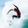 Mick Fanning into quarters at Bells swansong