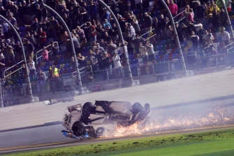 Ryan Newman was taken to hospital after a horrific crash in the Daytona 500.