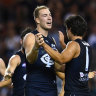 Seven sent: McKay's bag leads Blues to thumping win over Freo