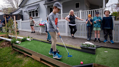 Our land abounds in nature strips, and suburban mini-golf courses, too