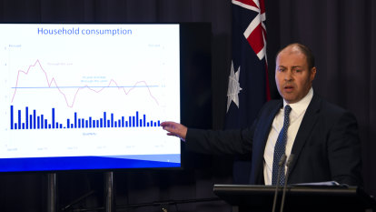 Morrison government moves to surplus as economy slumps to GFC levels