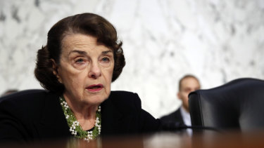 Democratic Senator Dianne Feinstein.