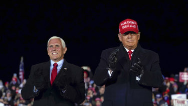Vice-President Mike Pence could briefly assume command and replace President Donald Trump if a two-thirds majority of Congress agrees to enact section 4 of the 25th Amendment, but it is not swift.