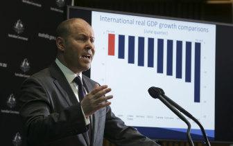 Spending up to keep the economy afloat: Federal Treasurer Josh Frydenberg.