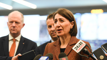 """I believe we have the best rail operations centre potentially in the world"": NSW Premier Gladys Berejiklian at the launch on Thursday."