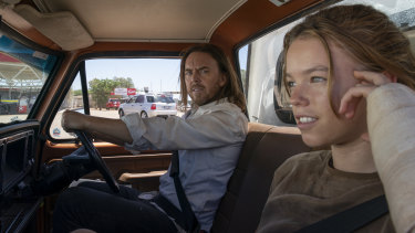 Tim Minchin and Milly Alcock are driving towards redemption in Upright.