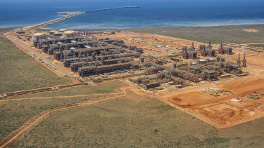 Chevron's Gorgon LNG plant on Barrow Island off West Australia.