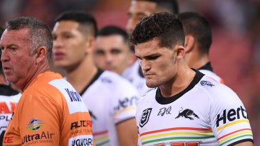 Nathan Cleary and the Panthers come to terms with a heavy loss to the Tigers during magic Round in 2019.