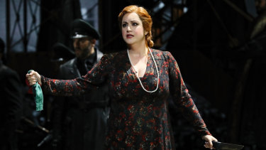 Natalie Aroyan as Odabella in Opera Australia's production of Attila, which was cancelled this week.