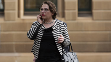 Sophie Mirabella arrives at the Liberal Party fundraiser at the InterContinental Hotel.