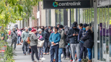 Centrelink queues have stretched around blocks in Australian cities