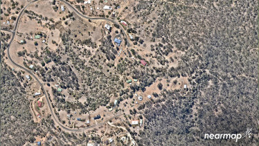 Nearmap images of rural Rosewood in the Bremer Valley, about 45 kilometres south-west of Brisbane.