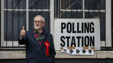Labour leader Jeremy Corbyn cast his vote in his north London constituency of Islington.