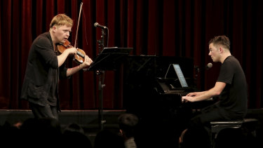 Pekka Kuusisto and Nico Muhly perform at ACO's Nico Muhly and the New.