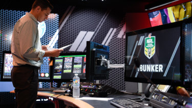Bunkered down: The NRL's decision review hub is only as good as the humans operating the technology.