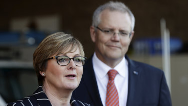 Prime Minister Scott Morrison and Defence Minister Linda Reynolds.