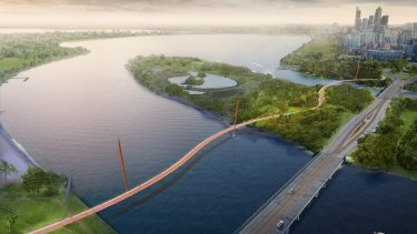 The new bridge would link Victoria Park and the city.