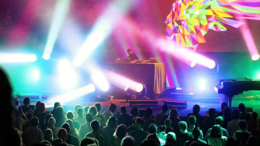 Jon Hopkins lights up the opera house with  sound and colour.