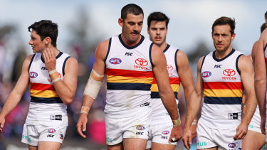 Taylor Walker kicked five goals but did not set a good tone for the Crows.
