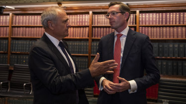Ken Henry with the instigator of the national plan for tax reform, NSW Treasurer Dominic Perrottet.