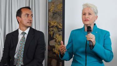 The battle for Wentworth: Liberal candidate Dave Sharma and independent candidate Kerryn Phelps.