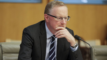 RBA governor Philip Lowe: The central bank's low interest rates are hurting the big banks.