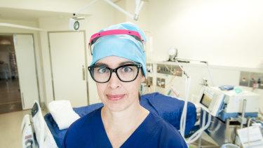 Critical care nurse Jillian Hickey.