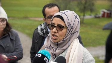 Rana Ghanem, a member of a Yemeni government delegation, in Sweden for talks.