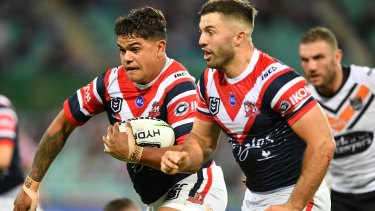 Man in demand: Roosters star Latrell Mitchell.