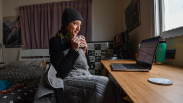 Julianne Tice, who lives in Melbourne's Fitzroy, has struggled with her higher energy bills during lockdown.