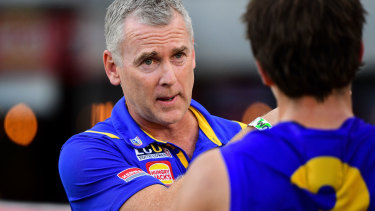 Complaints: Eagles coach Adam Simpson voiced concerns about the hub.