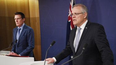 Prime Minister Scott Morrison and Attorney-General Christian Porter announce anti discrimination laws on Thursday.