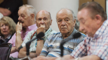 Retirees packed into the Chatswood Club on Friday to voice their concerns at Labor's policy.