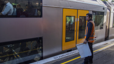 Station staff at Wollstonecraft station wear earplugs to help block the high noise levels.