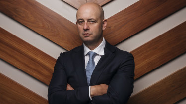 """""""Angry and frustrated"""": NRL CEO Todd Greenberg."""