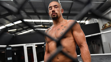 Top billing: Rob Whittaker will take on Kelvin Gastelum in Melbourne on Sunday.