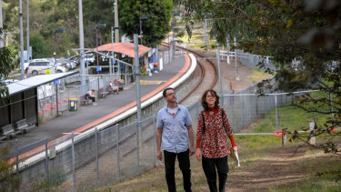Jane Oldfield and Damian Magner are concerned the habitat of the endangered Eltham copper butterfly is being removed in Montmorency to make way for level crossings works.