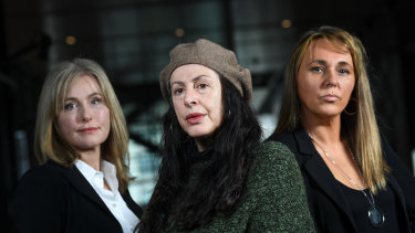 Sandra Rokebrand, Maria Moutsidis and Suzii Crowley allege serious misconduct on the part of former Hawthorn doctor Con Kyriacou.