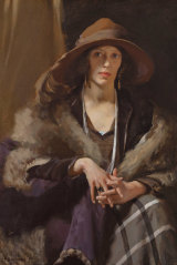 WB McInnes 'Miss Collins' 1924 was controversial with those who thought being a Melbourne socialite wasn't important enough.