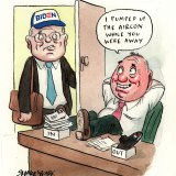 Welcome back, sir: Scott Morrison and Barnaby Joyce.