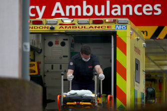 Ambulance callouts have increased as record numbers of coronavirus patients have been admitted to hospital in England.